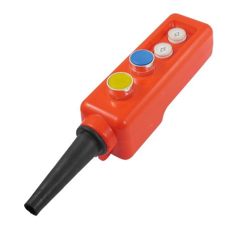 Hoist Blue Yellow Cap 1NO 1NC Momentary Pushbutton Switch 660V 10A - image 1 de 1