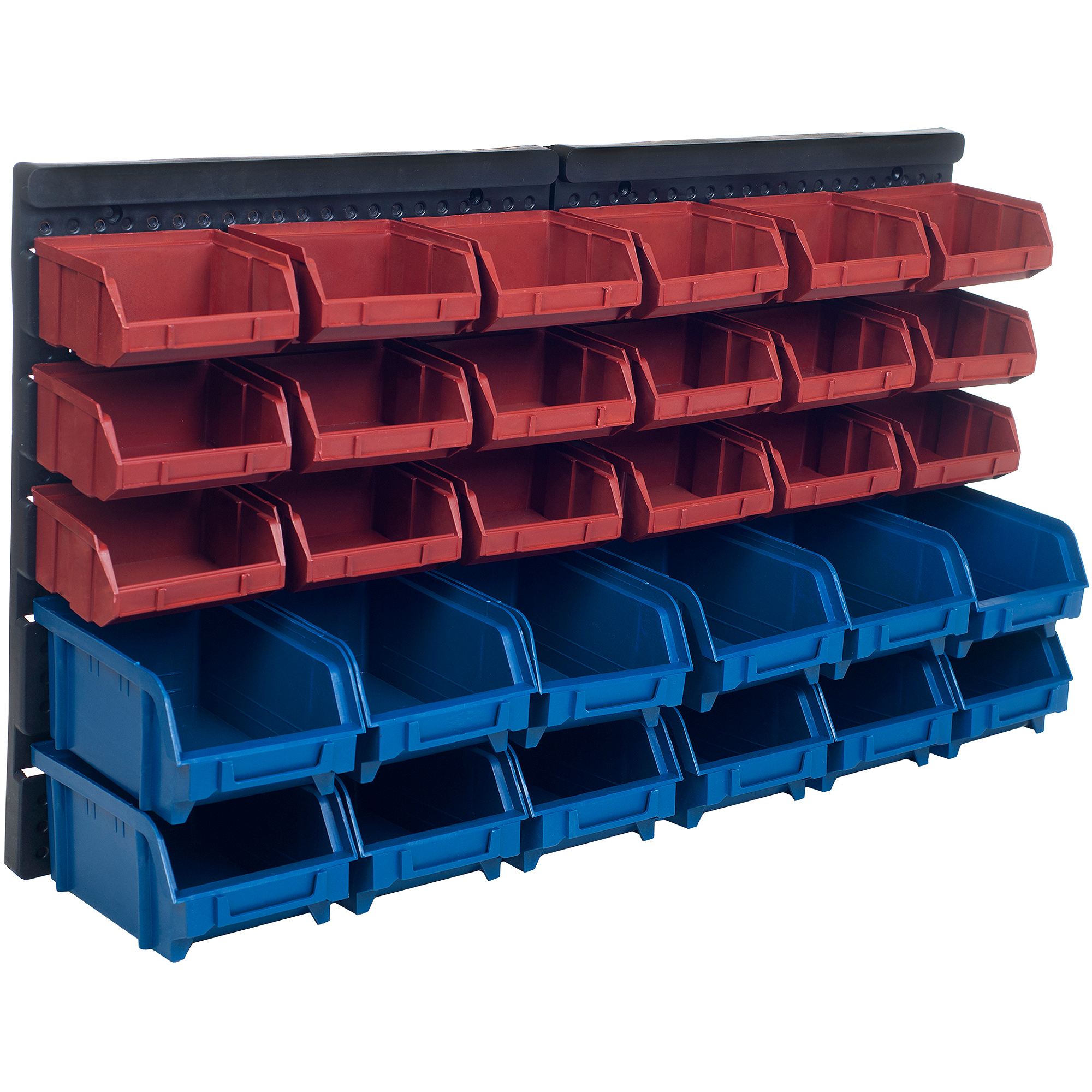 Stalwart 30 Bin Wall Mounted Parts Rack