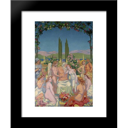 Panel 5  In The Presence Of The Gods Jupiter Bestows Immortality On Psyche And Celebrates Her Marriage To Eros 20X24 Framed Art Print By Maurice Denis