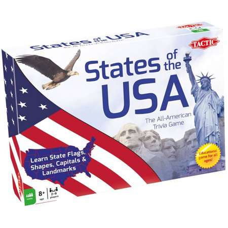 Tactic States of the USA Trivia Game - Halloween Party Trivia Games