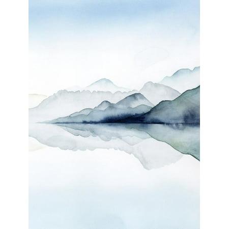 History Landscape Art - Glacial II Watercolor Coastal Landscape Print Wall Art By Grace Popp