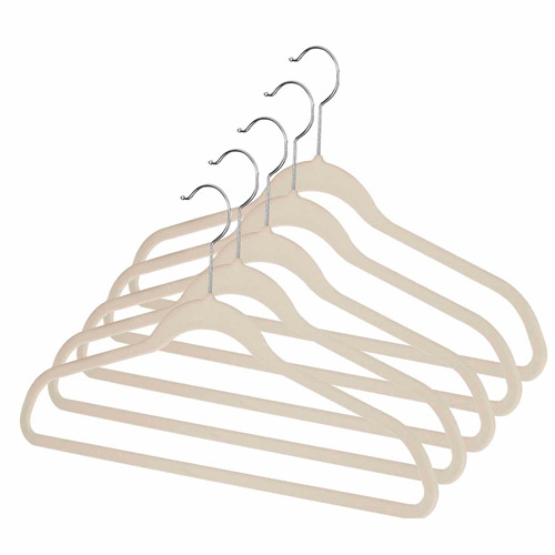 Whitmor Manufacturing 6478-1621-5-BGE Spacemaker™ Suit Hangers 5 Count