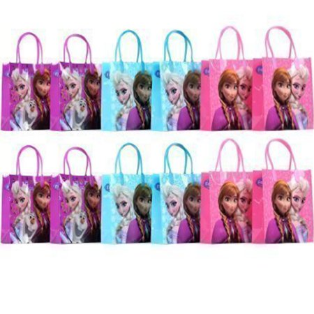 Disney Frozen 12 Reusable Party Favors Medium Goodie Gift Bags 8