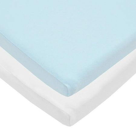 Blue And White Ed Cradle Sheets Value Jersey Knit 2 Pack Includes Two That Are Made From 100 Cotton Fabric To Make