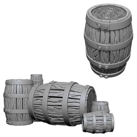 WZK DC: Barrel & Pile of Barrels W5 WizKids Deep Cuts Unpainted Minis: (Best Of Wizkid 2019)