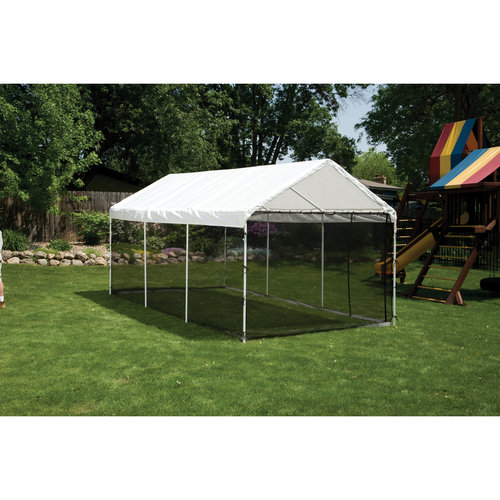 """Max AP 10' x 20' Screen House Enclosure Kit Woven Screen Black Fits 1-3 8"""" and 2"""" Frame by ShelterLogic"""