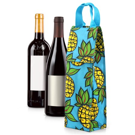 Wine Carrier Bag by Zodaca Thermal Insulated Lightweight Wine Bottle Tote Carrying Case Whisky Glass Bottle Carry Holder Bag for Travel Party Gift -
