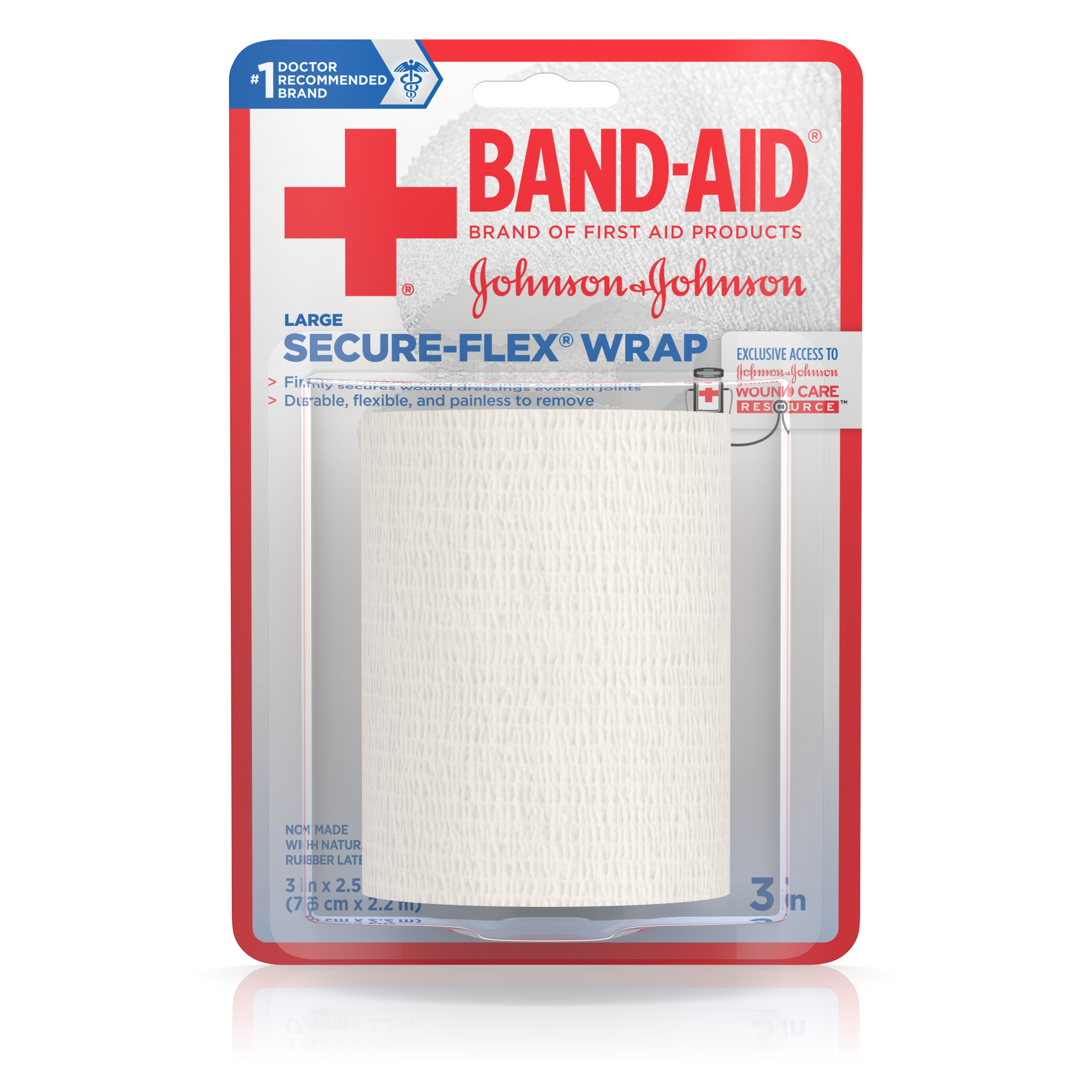 BAND-AID Brand of First Aid Products Durable SECURE-FLEX Wrap, 3 Inches by 2.5 Yards by Johnson & Johnson Consumer Products Company