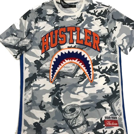 f2a9da91 Hudson Kid's Camo Shark Mouth Shirt Gray hkk850025-gry-hk - Walmart.com