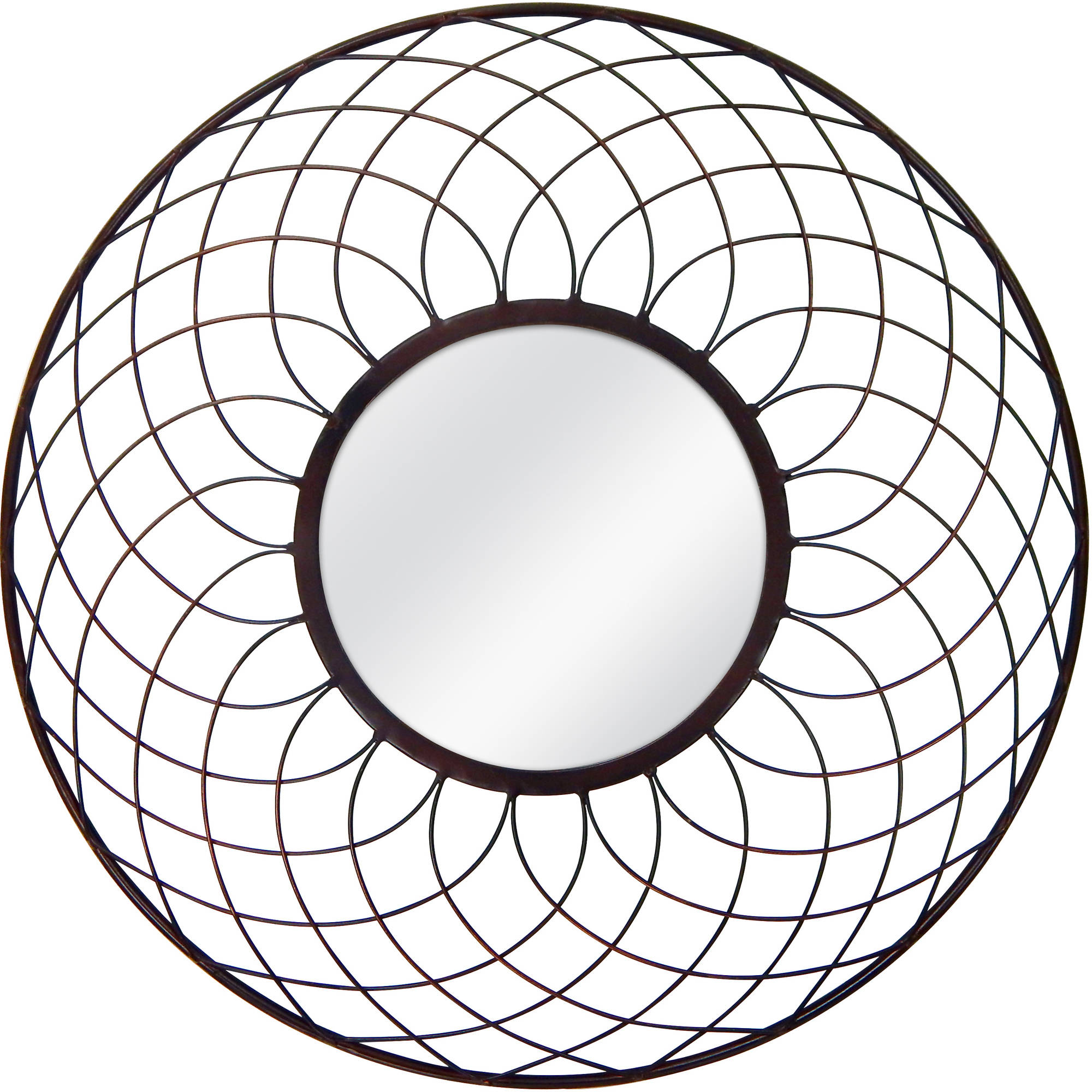 "Better Homes and Gardens 20"" Round Metal Mirror"