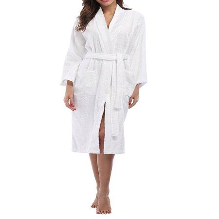 7a9de0a06f Skylinewears - skylinewears women s 100% terry cotton bathrobe toweling  robe charcoal large - Walmart.com