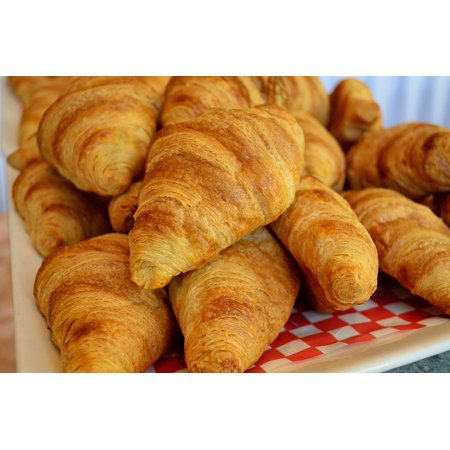 Croissant Halloween Food (Peel-n-Stick Poster of Breakfast Croissants Baked Goods Flaky Crispy Food Poster 24x16 Adhesive Sticker Poster)