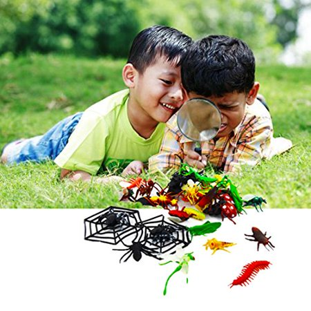 Dazzling Toys Party Pack Of Various Insects, Spiders with 2 Spider Webs.](Birthday Spider)