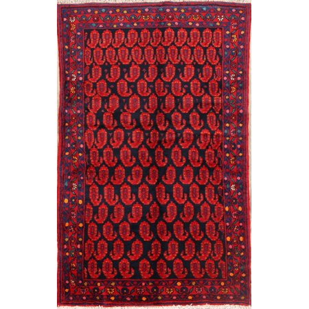 Hamedan Persian Hand Knotted Rug (One-of-a-Kind Traditional Paisley Malayer Hamedan Hand Knotted 4'x6' Rug )