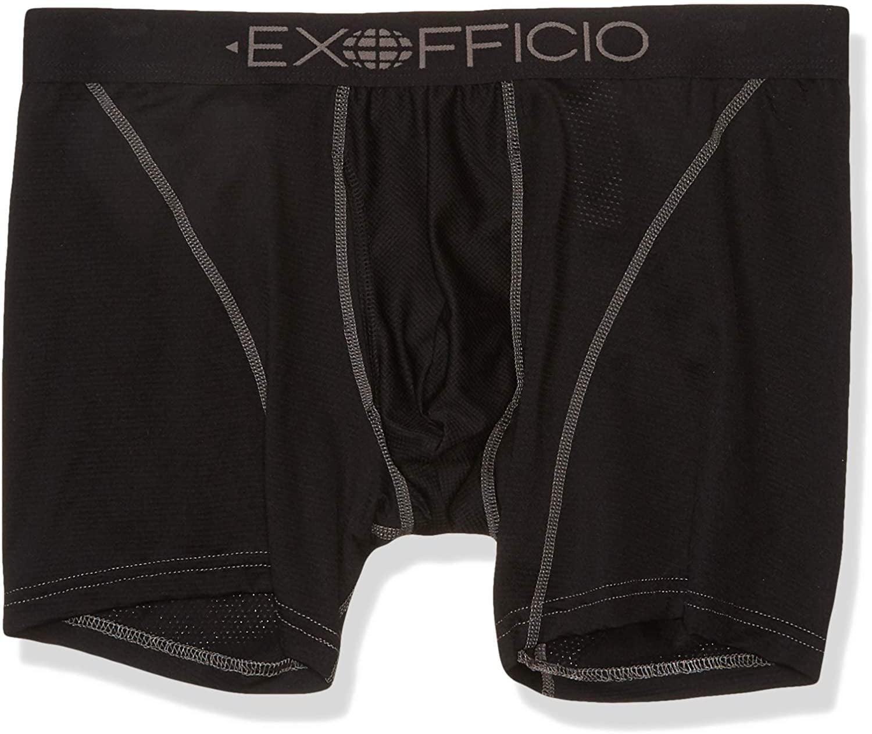 ExOfficio Mens Give-N-Go Sport Mesh 6 Boxer Brief,Phantom,Large