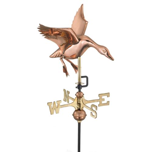 Good Directions Landing Duck Pure Copper Garden Weathervane with Garden Pole by by Overstock