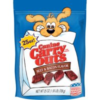 Canine Carry Outs Beef & Bacon Flavor Dog Snacks (Various Sizes)