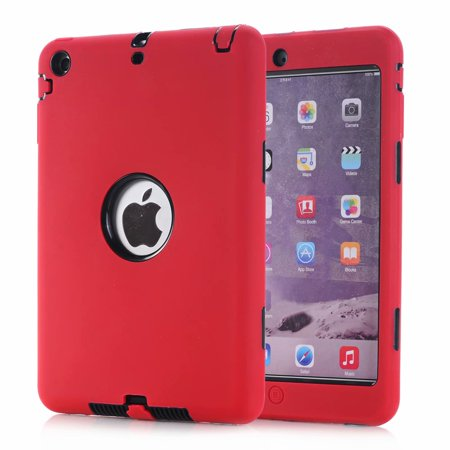 iPad mini Case, Dteck Shockproof Heavy Duty Rugged Protective Cover For iPad min 1/2/3 7.9 inch Tablet (Red Electronics)