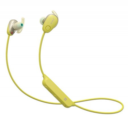 - Sony WI-SP600N - Earphones with mic - in-ear - Bluetooth - wireless - NFC - active noise canceling - yellow