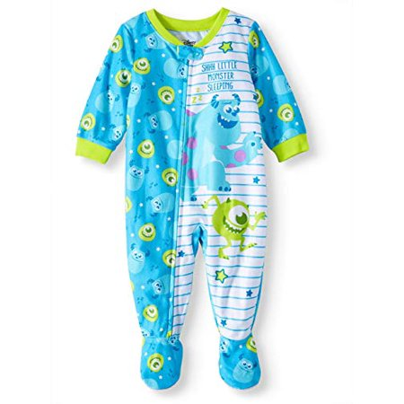 AME Monster's Inc Microfleece Footed Blanket Sleeper (Baby Boys) (18m) Blue