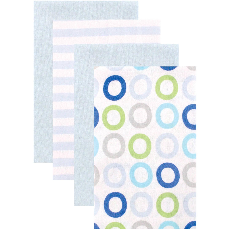 Luvable Friends Flannel Burp Cloths, 4pk, Choose Your Color