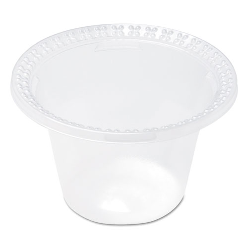 Plastic Dessert Dishes, Clear, 8 oz, 100 Pack, 10 Carton by Dixie®