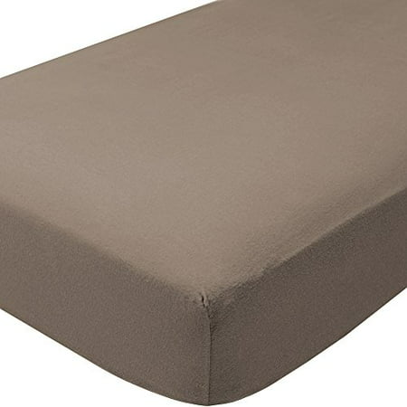 Extra Twin (Fitted Bottom Sheet 100% Cotton Flannel Twin XL Extra Long (Twin XL, Taupe Grey))