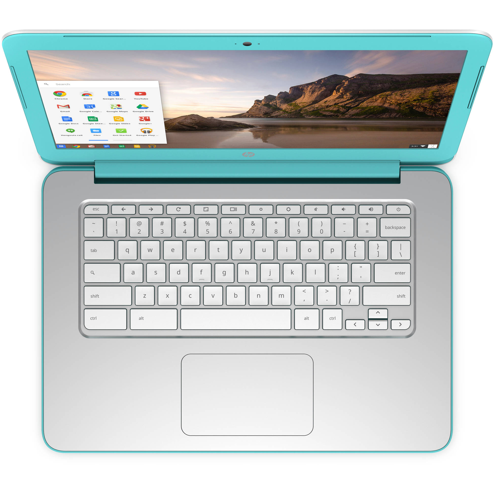 "Refurbished HP White/Turquoise 14"" 14-x010wm Chromebook PC with NVIDIA Tegra K1 Mobile Processor, 2GB Memory, 16GB eMMC and Chrome OS"