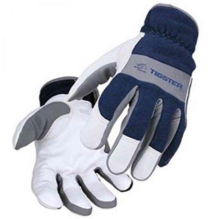 Flame Resistant Gloves - Revco T50 Men's Tigster Flame Resistant Welding Gloves Blue/White Medium