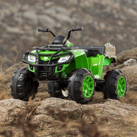 Best Best Choice Products 12V Powered Extra-Large Kids ATV Quad 4 Wheeler Ride On Spring Suspension MP3 Lights Storage Bin deal