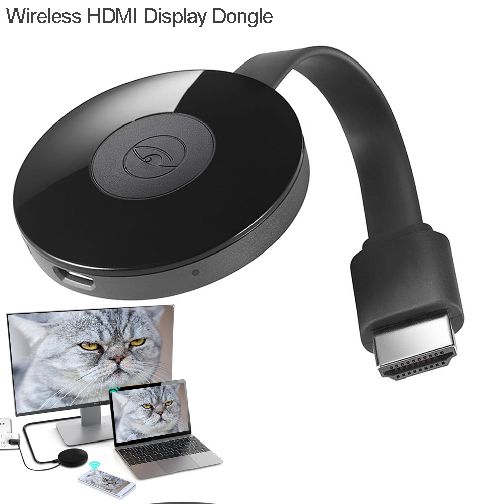 HDMI Miracast Dongle WiFi Wireless Display Adapter Miracast DLNA Airplay Receiver Streaming Mirroring from iPhone iPad Android Smart Device to HD TV Projector