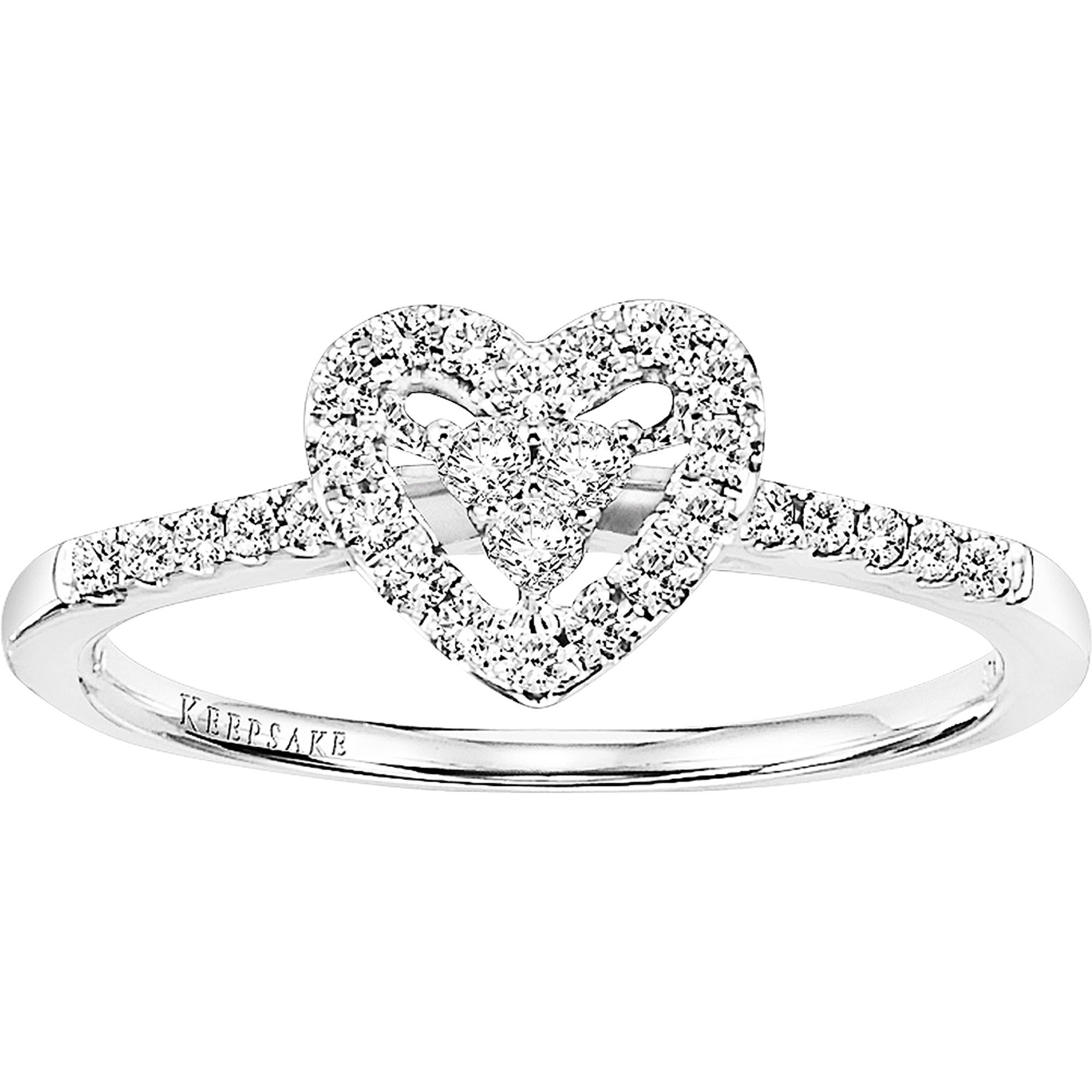 diamond walmart ring t keepsake engagement holiday w silver carat sterling rings ip com