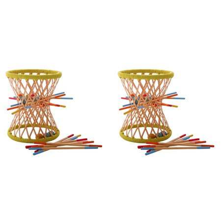 Hape Bamboo Collection - Hape Eco Design Bamboo Sticks and Tumbling Ball Balance Pallina Game (2 Pack)