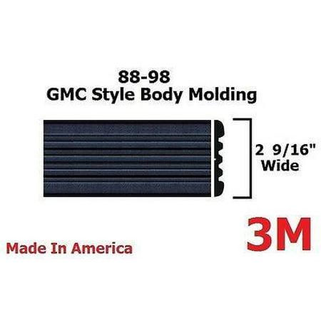 Aluminum Body Side Molding (1992-1998 GMC Suburban BLACK Side Body Trim Molding 2.5