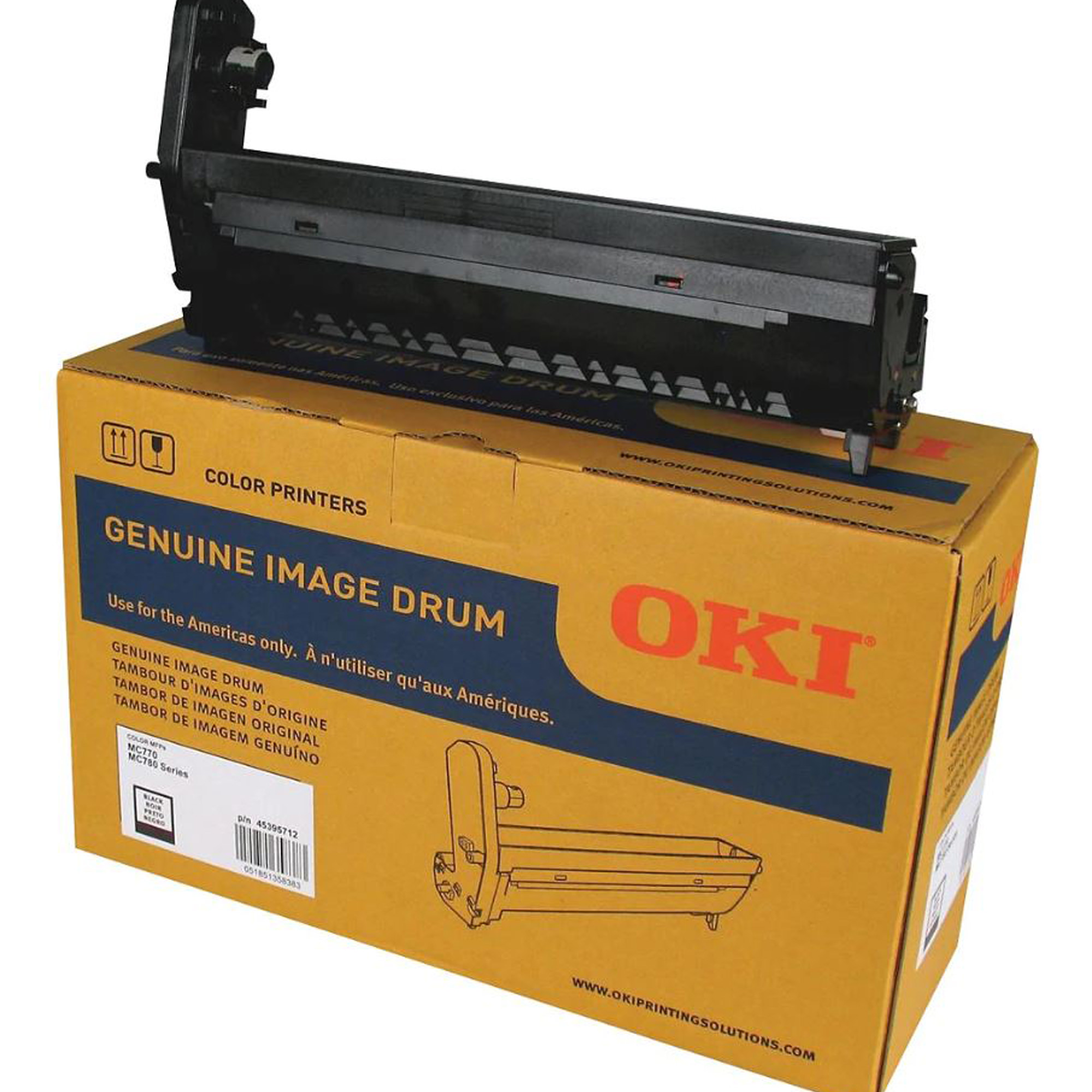 Okidata Image Drum for MC770 / MC780 Series Printer (30,000 Pages, Black)