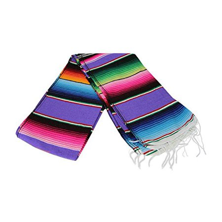 Hand Woven Serape Table Runner - for Fiesta & Party Decor, 8