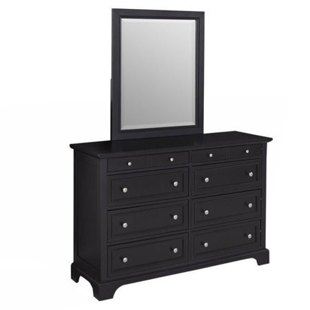 bowery hill 8 drawer dresser with mirror in black. Black Bedroom Furniture Sets. Home Design Ideas