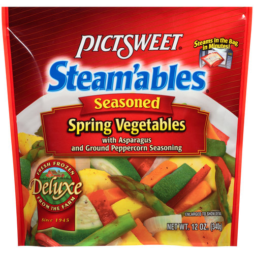 Pictsweet Steam'ables Seasoned Spring Vegetables, 12 oz