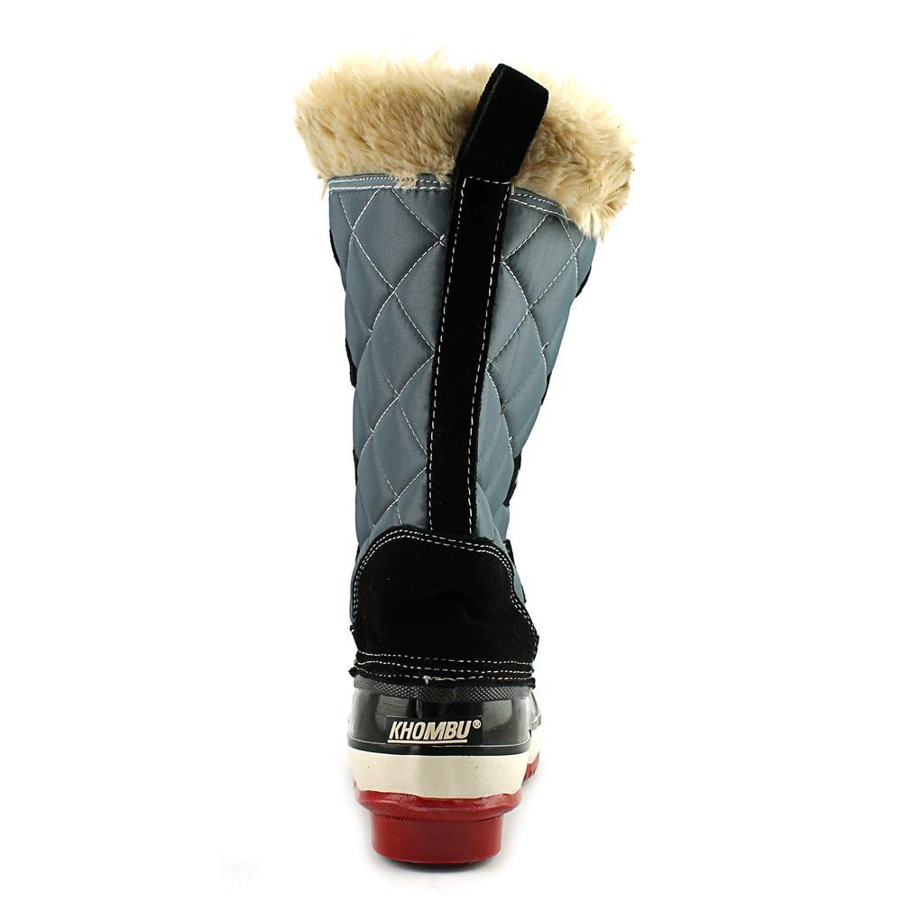 Khombu Melanie Women  Round Toe Synthetic Gray Winter Boot