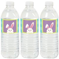 Hippity Hoppity - Easter Party Water Bottle Sticker Labels - Set of 20