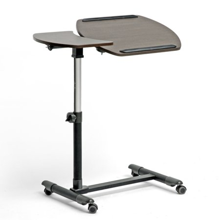 Olsen Brown Wheeled Laptop Tray Table with Tilt Control