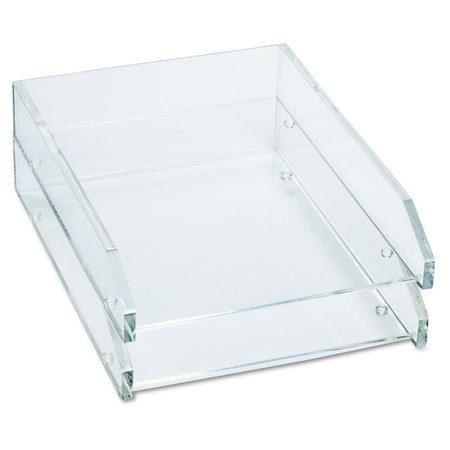 Hardwood Double Desk Tray Letter (Kantek Clear Acrylic Double Letter Tray, Two Tier, 4-3/4 X 14 X 10-1/2 inches each tray)