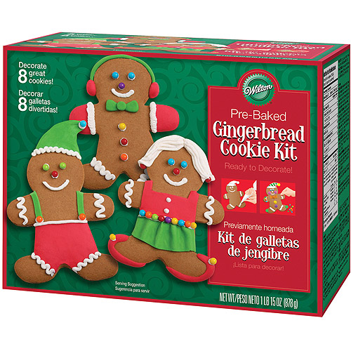 Wilton Pre-Baked Cookie Decorating Kit, Gingerbread Boys 8 ct. 2104-1906