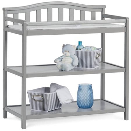 Child Craft Camden Arch Top Changing Table - Cool Gray