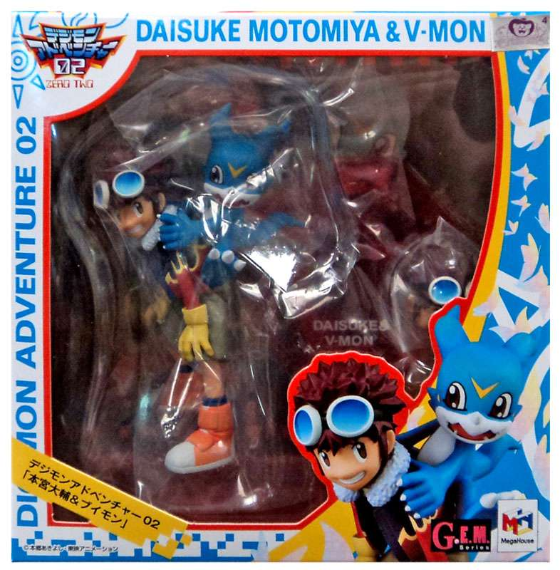 GEM Series Daisuke Motomiya & V-Mon PVC Figure [Digimon Adventure 2] by