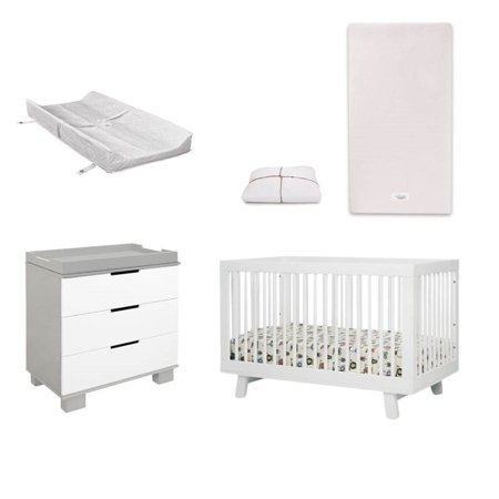 5 Piece Nursery Furniture Set With Crib Changer Changing