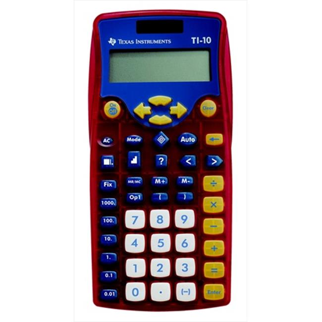 Texas Instruments 069004 2-Line Math Calculator Classroom Set, Multiplication, Division, Powers, Unit Of Measure, Red,... by Texas Instruments