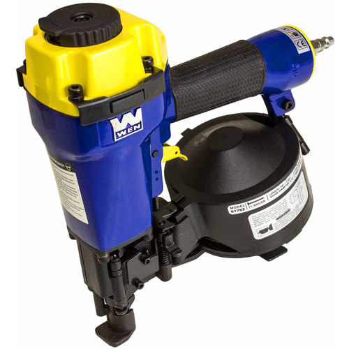 "Wen 7/8"" to 1-3/4"" Coil Roofing Nailer with Magnesium Housing"