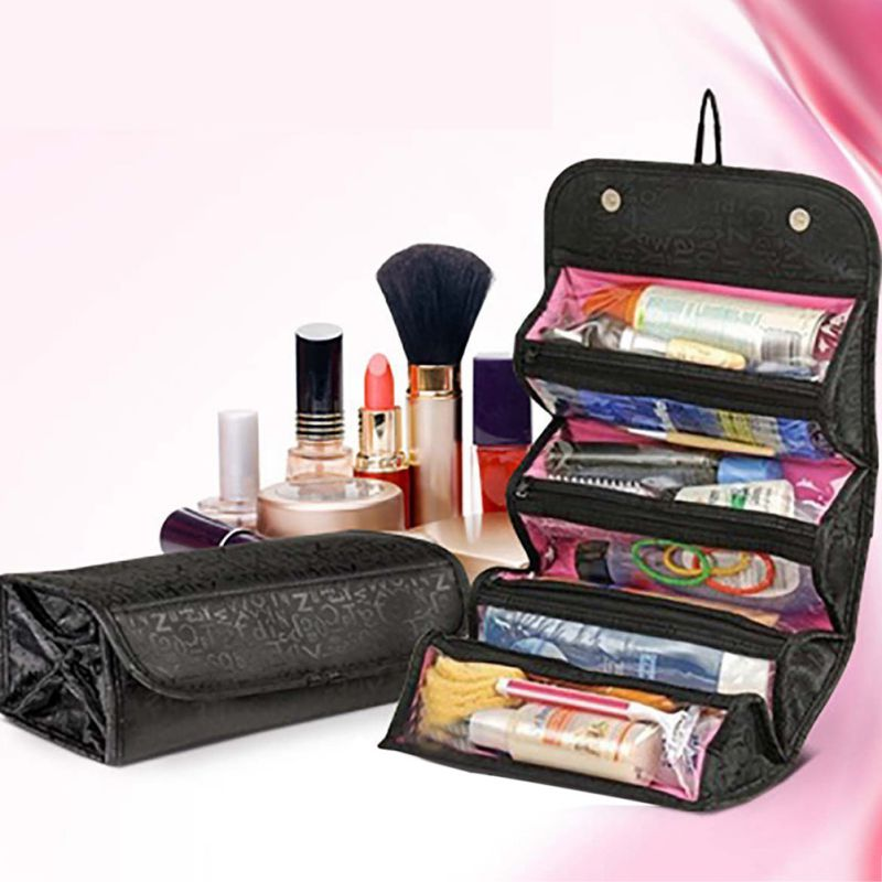 Nicesee Roll-up Wall Hanging Travel Cosmetic Bag Toiletry Storage Organizer  - Walmart.com 9c9d0da4c8caa