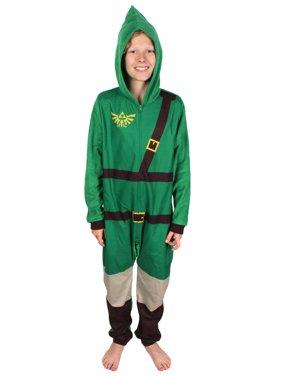 The Legend Of Zelda Boys Pajamas Link Costume Union Suit